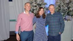Longford Coach Glenn Baskett and Wife Fiona with Joe Schmidt