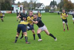 Ciaran O'Gorman makes a tackle