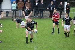 Danny McHugh passes the ball