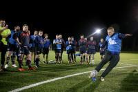 Ian Madigan Visits Training