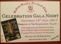 Last few tickets left for Saturday night. Contact John Chapman (087) 221 0848 or Cora Browne (087) 252 4741