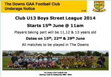 Street league start this Sunday