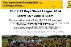 Street League starting this Sunday