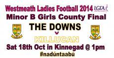Girls Minor Final this weekend