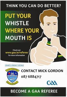 Become a GAA Referee !