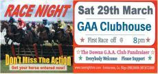 Race Night Sat 29th March