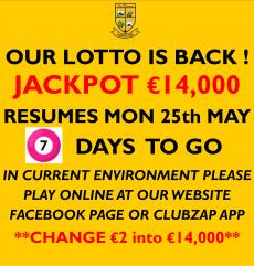 Club lotto is back !!