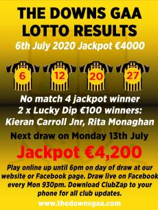 Lotto results 6th July 2020
