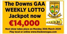 Lotto jackpot €14000