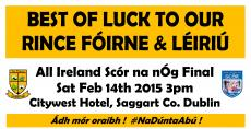 All Ireland countdown is on !!