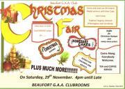 Christmas Fair. Saturday, 29th November 2014. 4pm