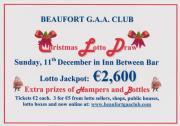 Christmas lotto draw on Sunday, 11th December