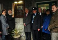 Unveiling of plaque in memorary of the Addergoole Fourteen at Castlebar Railway Station 8th April 2012