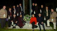 Relatives at the Centenary Bell Ringing Ceremony 15th April 2012