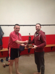 Hurler of the Year 2018 - James M O'Leary, pictured here being presented with his award by Martin Cotter, Junior Hurling Selecto