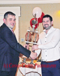 Clubman of the Year 2018 - Ger McSweeney, pictured here being presented with his award by Barry Oldham, Club Chairman