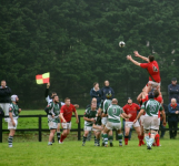 Tom Keogh takes the lineout with ease
