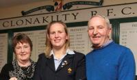 Laura Guest Ireland Triple Crown, 6 Nations and Grand Slam Winner with her Parents