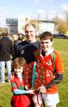 Coach Rob and his boys after his side won the Munster Title