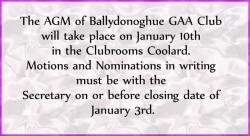 Ballydonoghue AGM