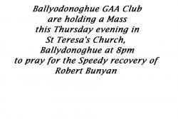 Ballydonoghue GAA Special Mass
