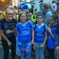 Supporters Greeting Dublin team at homecoming in St Sylvesters after Ladies Football Final
