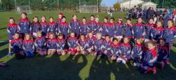 U9 Ladies Football enjoy End of Season Blitz in Russell Park on 5th November, well done to all