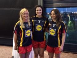 Congratulations to Noelle Healy, Team of the League award recipient, pictured with Olwen Carey and Carla Rowe