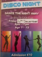 Club Disco for 11 to 13 year olds, 14th December