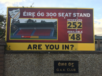 Seats selling fast for the new stand