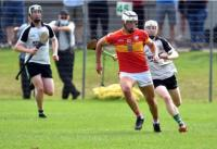 Colm O Callaghan in action vs Douglas Intermediate A Hurling Championship