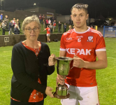 Minor CHampions Daire O' Leary receiveing the Cup