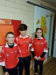 Scor na bPaisti competition Darragh Casey, Joseph O Riordan & Niamh O Mahony