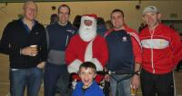 Juvenille Coaches with Santa