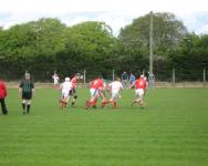 Action from the throw in
