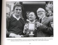 Captain Noel Doyle receiving the Miley cup in 1975.