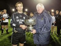 Newtown Captain Garrett Doyle receives the Dunne cup